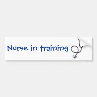 Celebración del oficio de enfermera y de la medici etiqueta de parachoque