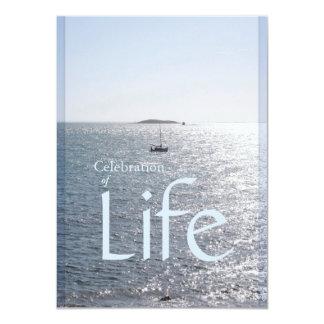 Celebración del paisaje marino 1 de la vida - invitación 11,4 x 15,8 cm