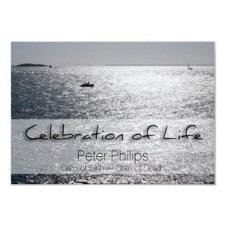Celebración del paisaje marino de la invitación invitación 8,9 x 12,7 cm