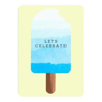 Celebración del Popsicle Invitación 12,7 X 17,8 Cm