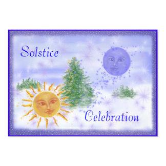 """Celebración del solsticio invitación 5"""" x 7"""""""