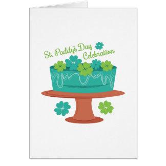 Celebración del St Paddys Tarjeta De Felicitación