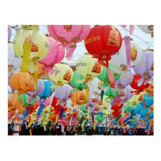 Celebración del templo budista de Tailandia Tarjetas Postales