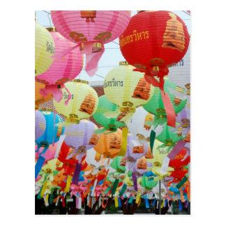 Celebración del templo budista de Tailandia Postales