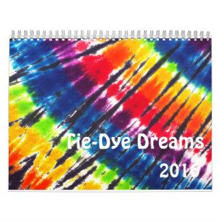 Celebración del teñido anudado calendarios de pared