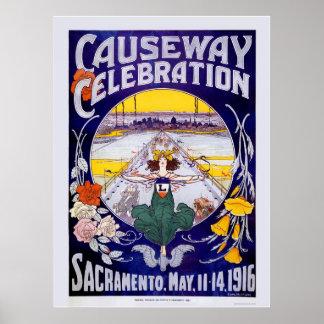 Celebración del terraplén de Sacramento Póster