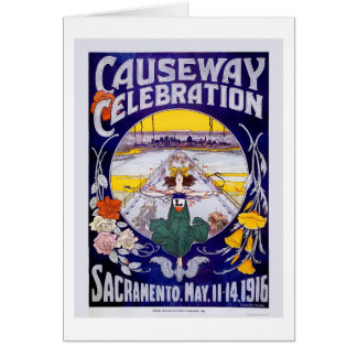 Celebración del terraplén de Sacramento Tarjeta De Felicitación