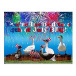 Celebración Ducky en la 4ta de la invitación de Postal
