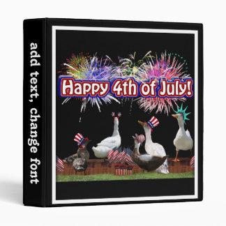"""Celebración Ducky """"feliz el 4 de julio"""" en espacio"""