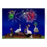 Celebración Ducky para el 4 de julio Tarjeta De Felicitación