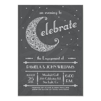 Celebración elegante de la luna de la pizarra invitación 12,7 x 17,8 cm