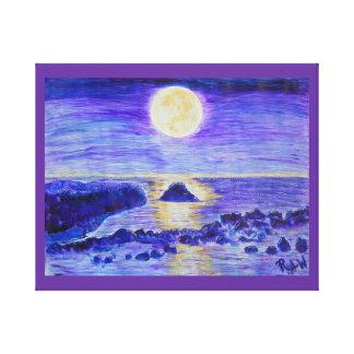 Celebración envuelta del claro de luna de la impre lienzo envuelto para galerias