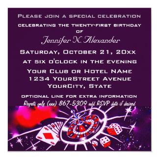 """Celebración especial del cumpleaños invitación 5.25"""" x 5.25"""""""