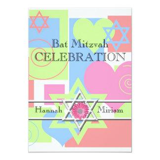 Celebración-Estrella de Mitzvah del palo de Invitación 12,7 X 17,8 Cm