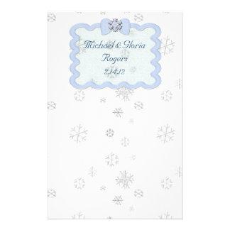 Celebración helada del copo de nieve papelería
