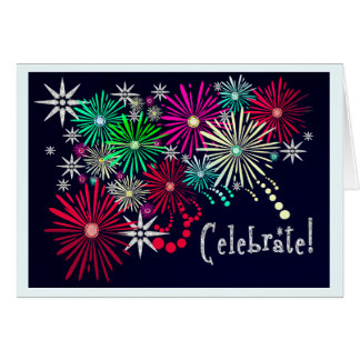 Celebración Jeweled (tarjeta de cumpleaños) Tarjeta De Felicitación