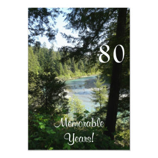 "Celebración-Lakeview memorable de 80 Invitación 5"" X 7"""