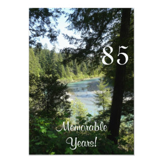 "Celebración-Lakeview memorable de 85 Invitación 5"" X 7"""