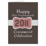 ¡Celebración No-Confesional feliz del Consumerist! Felicitación