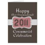 ¡Celebración No-Confesional feliz del Consumerist! Tarjetas
