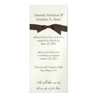 """Celebración poner crema del boda del poste de la invitación 4"""" x 9.25"""""""