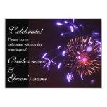 Celebración que casa púrpura invitación 12,7 x 17,8 cm