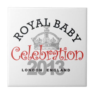 Celebración real del bebé azulejo cerámica