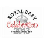Celebración real del bebé postales