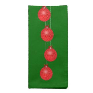 Celebración roja del día de fiesta del cordón servilleta