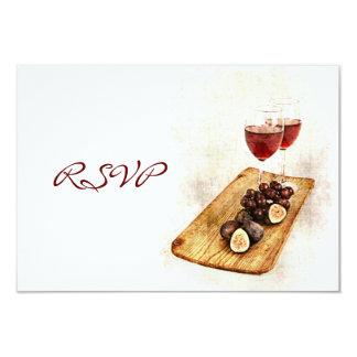 Celebración RSVP de la cena del vino Invitación 8,9 X 12,7 Cm