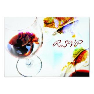 """Celebración RSVP de la cena del vino Invitación 3.5"""" X 5"""""""