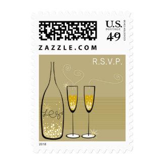 Celebración RSVP de las burbujas de Champán que Envio