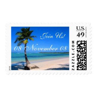 celebración tropical sello
