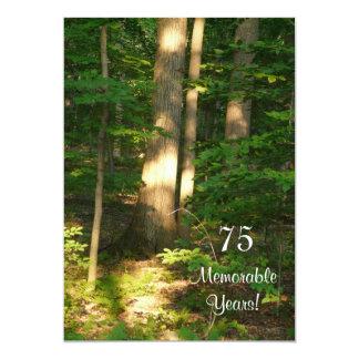 Celebración-Varón memorable de 75 años/cumpleaños Invitación 12,7 X 17,8 Cm