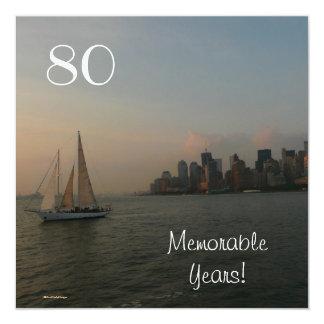 Celebración-Varón memorable de 80 años/cumpleaños Invitación 13,3 Cm X 13,3cm