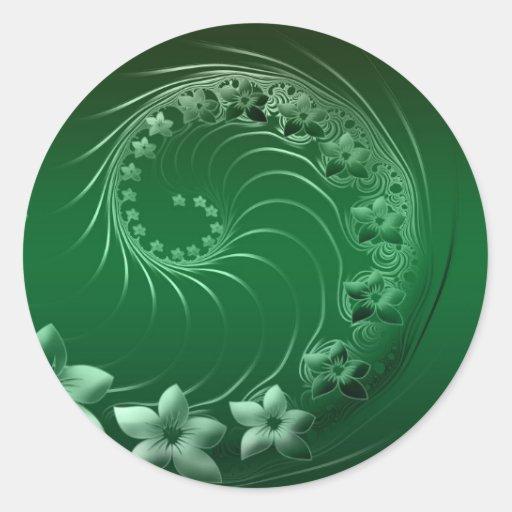 Celebración verde del destino del fiesta del pegatina redonda