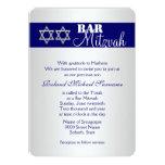 Celebraciones azules #5 del mitzvah de la barra de invitaciones personales