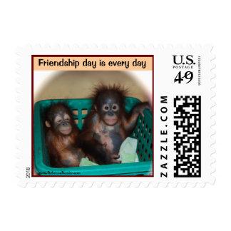 Celebraciones del día de la amistad con los sellos