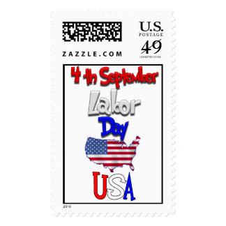 Celebraciones del día de trabajo sellos