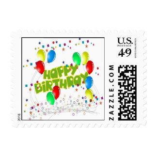 Celebraciones del feliz cumpleaños sellos