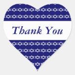 Celebraciones judías del recuerdo de Mitzvah de la Pegatina De Corazón Personalizadas