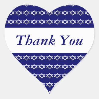 Celebraciones judías del recuerdo de Mitzvah de la Pegatina En Forma De Corazón