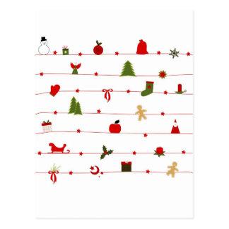 Celebraciones Papá Noel del día de fiesta de las F Postales