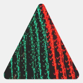 Celebraciones Papá Noel del día de fiesta de las Calcomanía De Triangulo