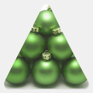 Celebraciones Papá Noel del día de fiesta de las Pegatinas De Triangulo Personalizadas