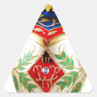 Celebraciones Papá Noel del día de fiesta de las Pegatinas De Trianguladas