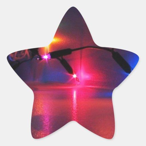 Celebraciones Papá Noel del día de fiesta de las Pegatina En Forma De Estrella