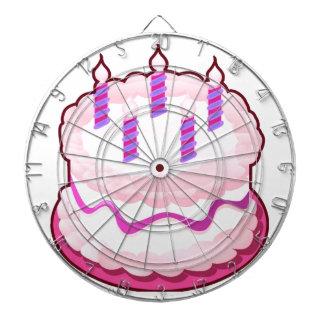 Celebraciones rosadas del dulce de la TORTA Tablero Dardos