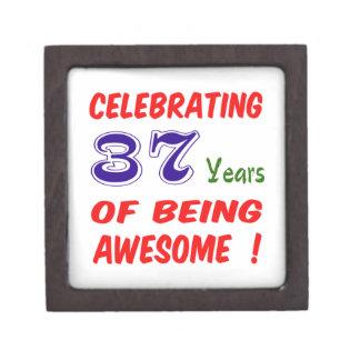 ¡Celebrando 37 años de ser impresionante! Cajas De Recuerdo De Calidad