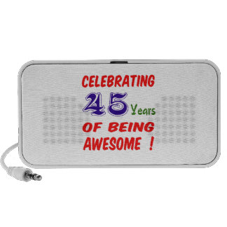 ¡Celebrando 45 años de ser impresionante! Notebook Altavoz